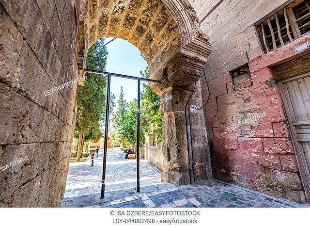 Gate of Ulu(Great) Mosque built between 1170-1175 in Sanliurfa,Turkey. 19 July 2018