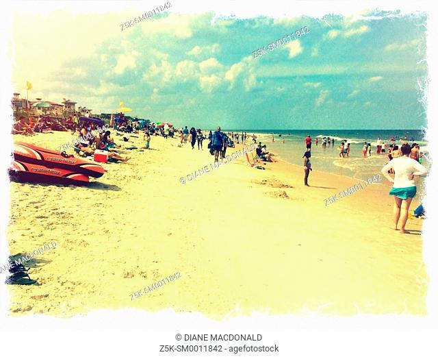 People enjoying the beach at Ponte Vedra Beach, Florida , USA