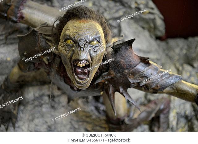 New Zealand, North Island, Wellington, studio Weta Workshop was founded in 1986 and contributed to the success of the first feature film of Peter Jackson