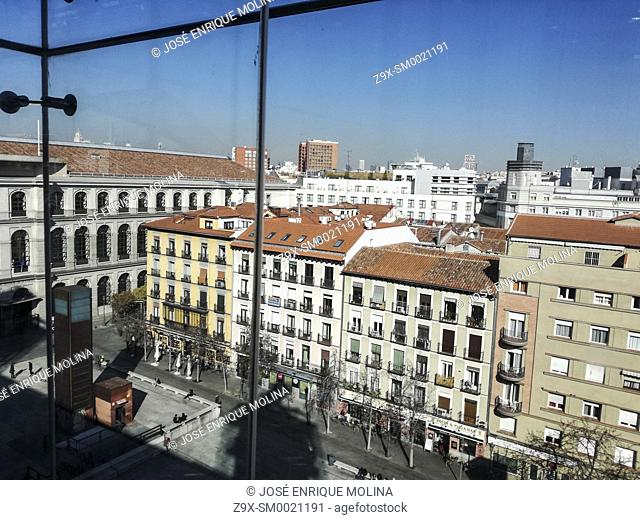 View of Madrid from the Reina Sofia museum, Madrid, Spain