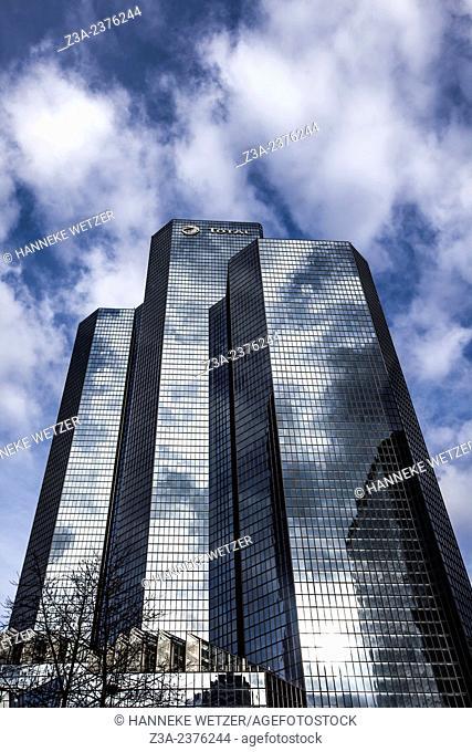Tour Total skyscraper at Paris-La Défense, France. at Paris-La Défense, France
