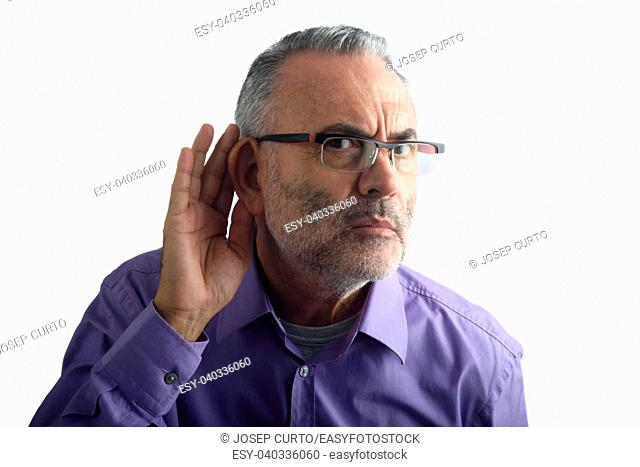 Man with deafness