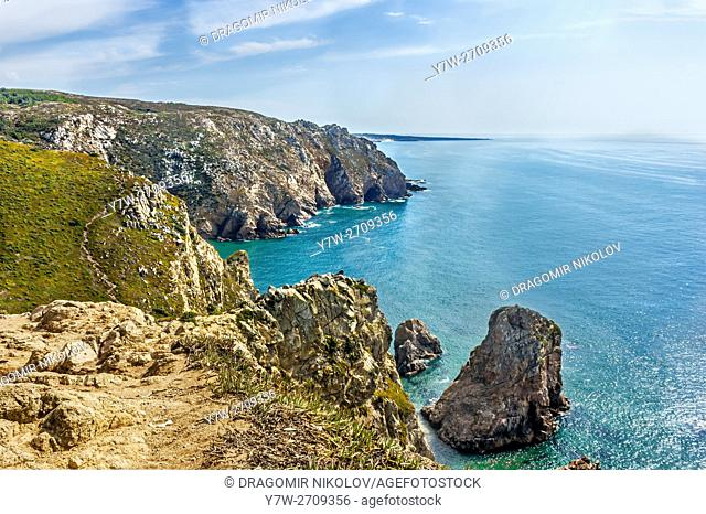 View from Cabo Da Roca, the western point of continental Europe, Portugal