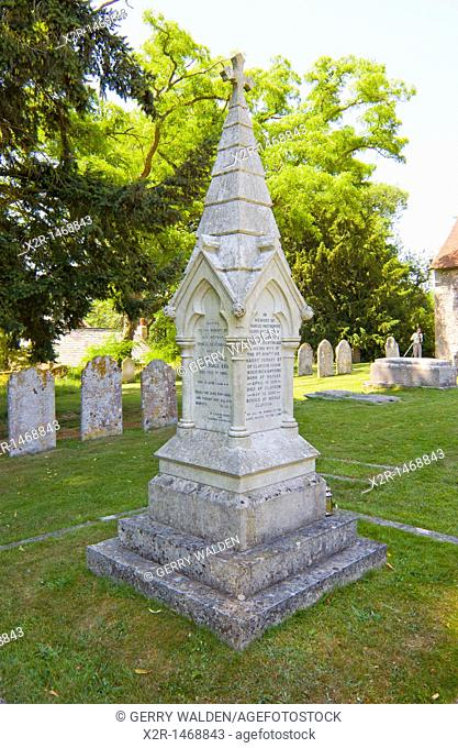 Monument at the grave of Florence Nightingale in St  Margaret Church in East Wellow, Hampshire