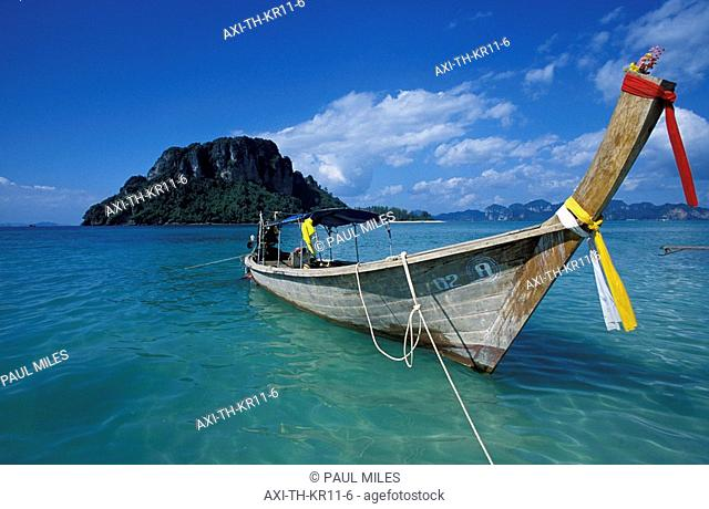 Long tail boat and Koh Podah from Chicken Island