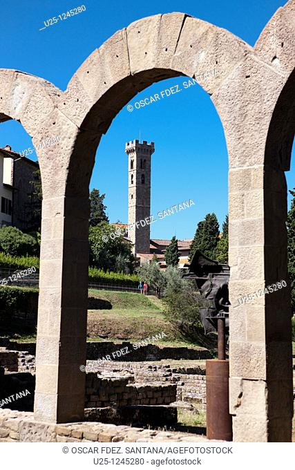 Archaeological site, Fiesole, Tuscany, Italy