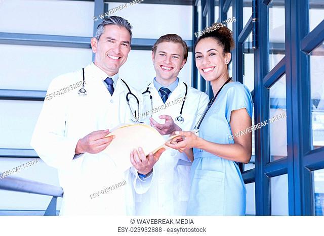 Portrait of medical team smiling at camera