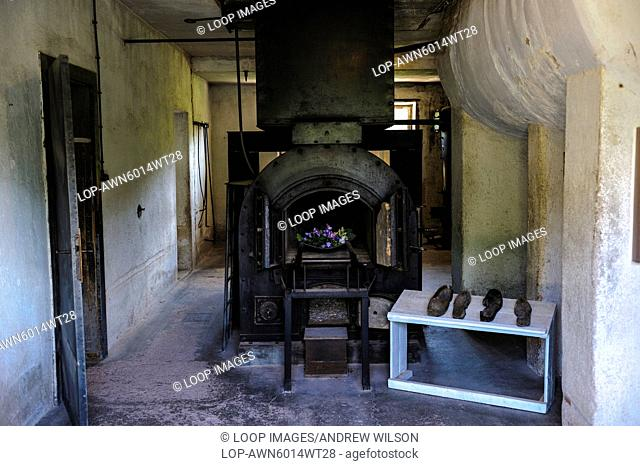 The crematorium at the Natzweiler-Struthof German concentration camp located in the Vosges Mountains close to the Alsatian village of Natzwiller