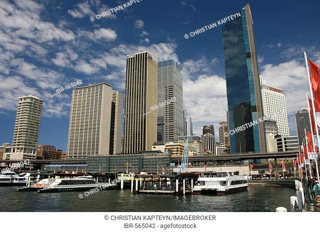 Sydney harbour bay, Circular quay ferry terminal, Sydney, Australiaia