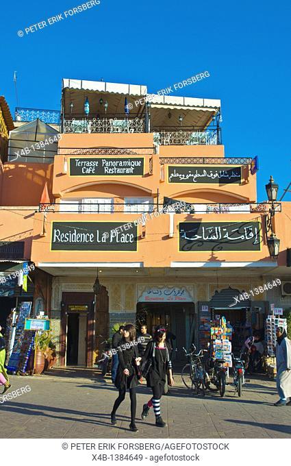 Djemaa el-Fna square Medina old town Marrakesh central Morocco Africa