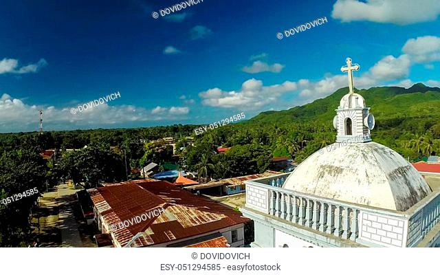 Tower of the Catholic Church. Anda. Pablacion. Bohol island