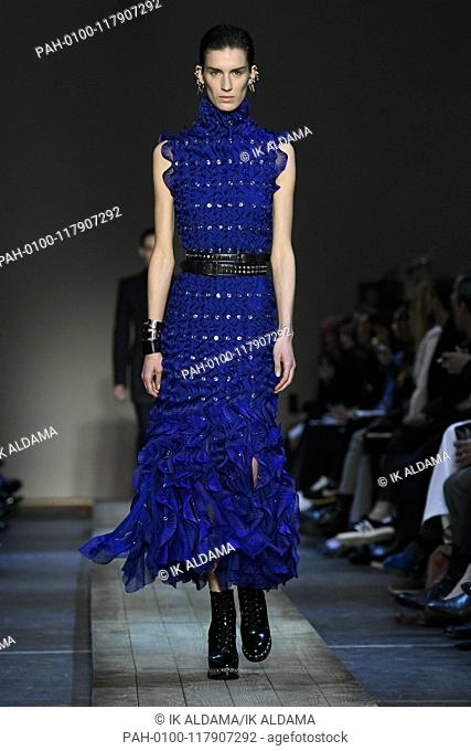 Alexander McQueen runway show during Paris Fashion Week, AW19, Autumn Winter 2019 collection - Paris, France 04/03/2019   usage worldwide