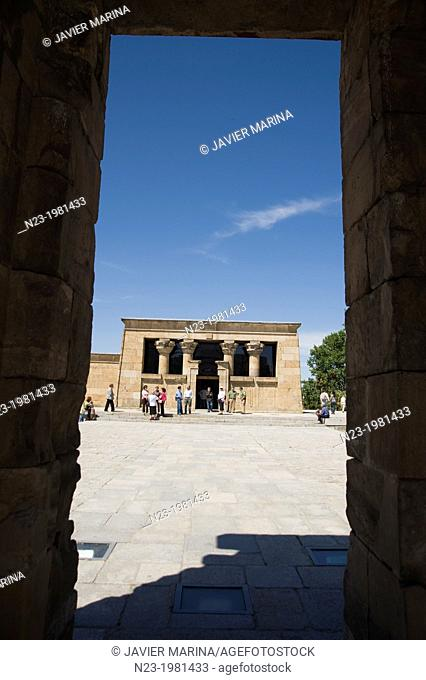 Ancient Egyptian Temple of Debod, Madrid, Spain