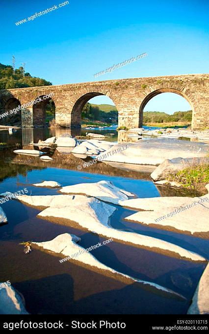 ancient bridge and stone islands