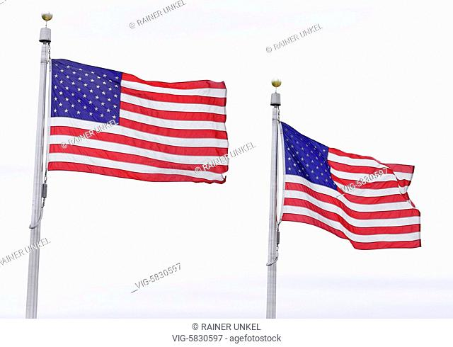 USA : Flags of USA in Washington , 21.05.2017 - Washington, District of Columbia, USA, 21/05/2017