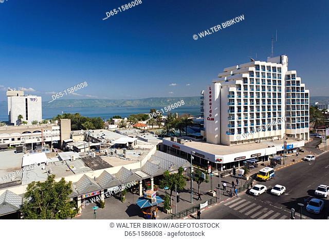 Israel, The Galilee, Tiberias, HaBanin Street and Leonardo Club Hotel