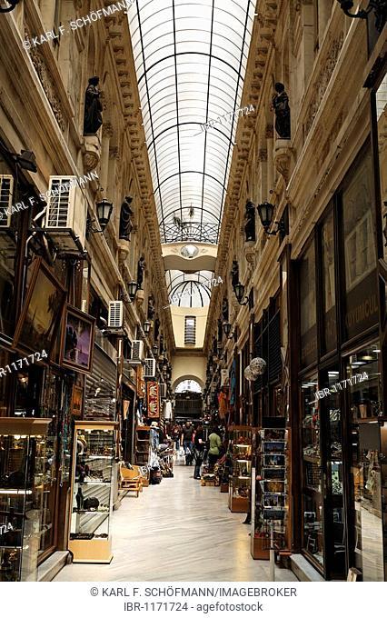 Shops in the Avrupa Passage shopping arcade, Istiklal Caddesi, Independence Street, Beyoglu, Istanbul, Turkey