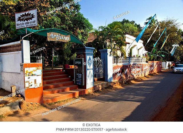 Entrance of a cafe, Artjuna Lifestyle Shop and Cafe, H. No. 972, Anjuna Shop, Monteiro Vaddo, Anjuna, Bardez, North Goa, Goa, India