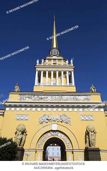 The Admiralty Building, St Petersburg, UNESCO World Heritage Site, Russia