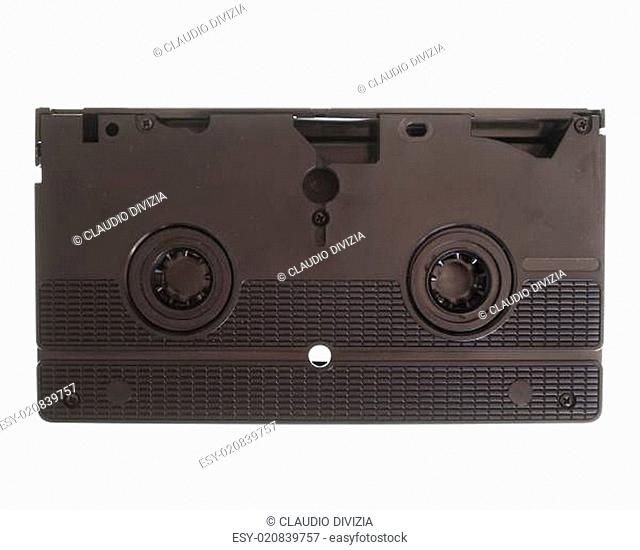 VHS cassette isolated