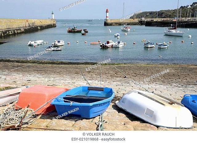 port tudy auf der Ile de Groix, Bretagne