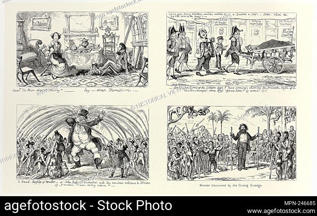 """Advice """"""""To Those About to Marry"""""""" - Buy Cheap Furniture from George Cruikshank's Steel Etchings to The Comic Almanacks: 1835-1853 (top left) - 1852, printed c"""