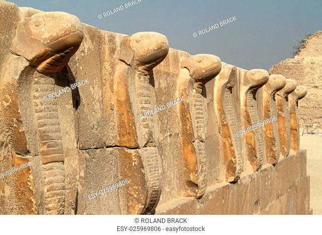the temples and pyramids of saqqara in egypt