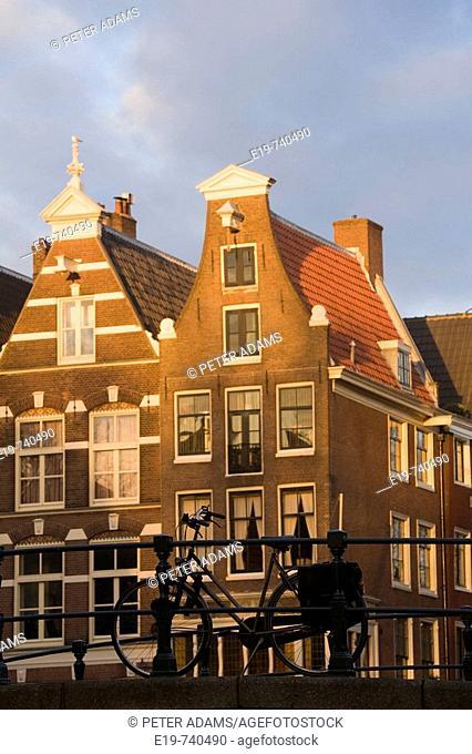 Amsterdam town houses & bridge