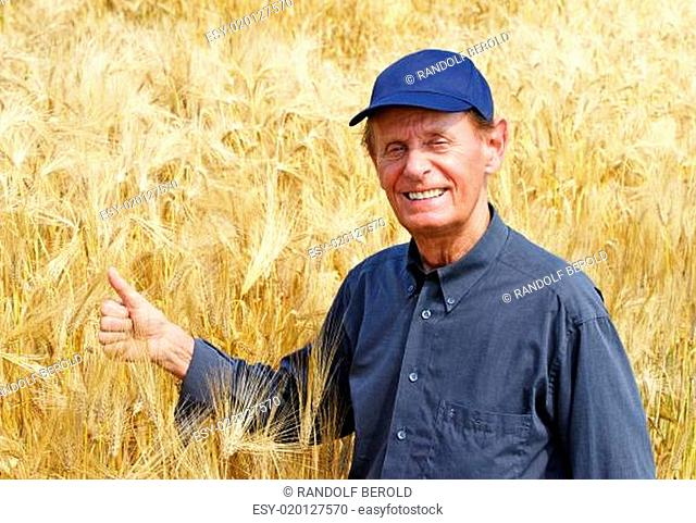 Die gute Ernte - Bauer im Kornfeld
