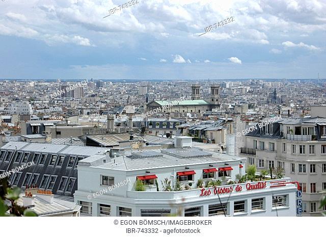 View over the city seen from Sacré-Coeur, Paris, France
