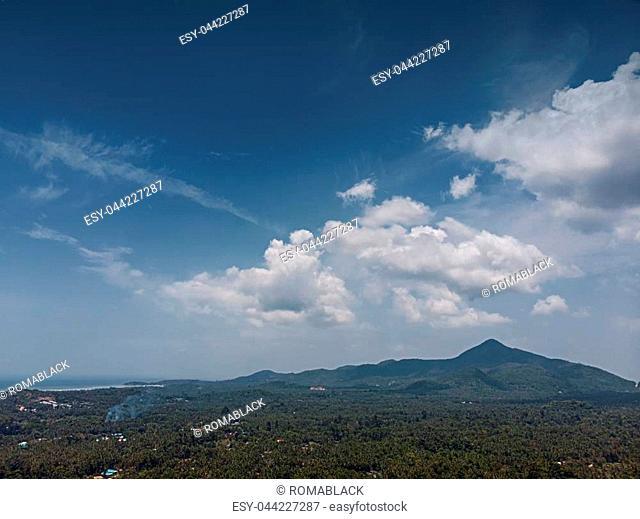 Drone Aerial Panorama, Koh Phangan Island