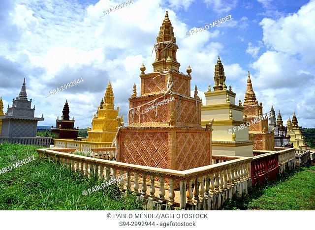 Cemetery of Sen Monorom, Mondukiri, Cambodia