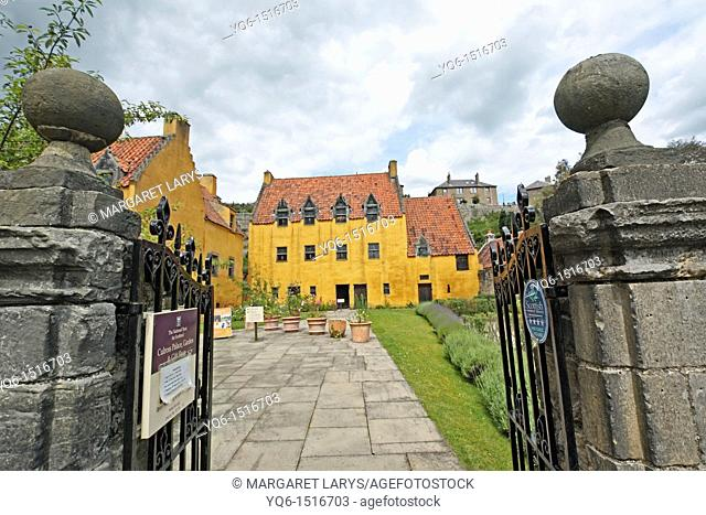 National Trust for Scotland owned Culross Palace and gardens in the Royal Burgh of Culross Fife Scotland