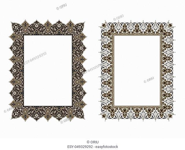 square elegant frame.. Vector Illustration