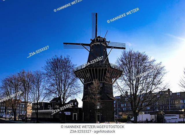 This octagonal windmill dates from 1725 and once served as a flour mill. The large windmill is a distinctive feature of the landscape in Amsterdam Oost