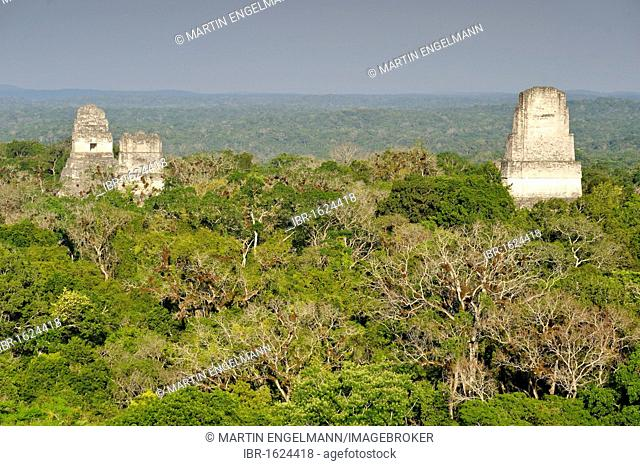 Mayan Temples of Tikal, pyramid, calendar, 2012, rainforest, Peten, Guatemala, Central America