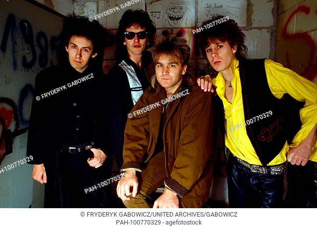 """""""""""The Alarm"""", britische Alternative-Rockband, beim Konzert in München, Deutschland 1986. British alternative rock band """"The Alarm"""" performing live at..."