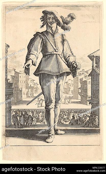 The Captain or The Lover, from Three Italian Comedians - 1618–20 - Jacques Callot French, 1592-1635 - Artist: Jacques Callot, Origin: France, Date: 1618–1620