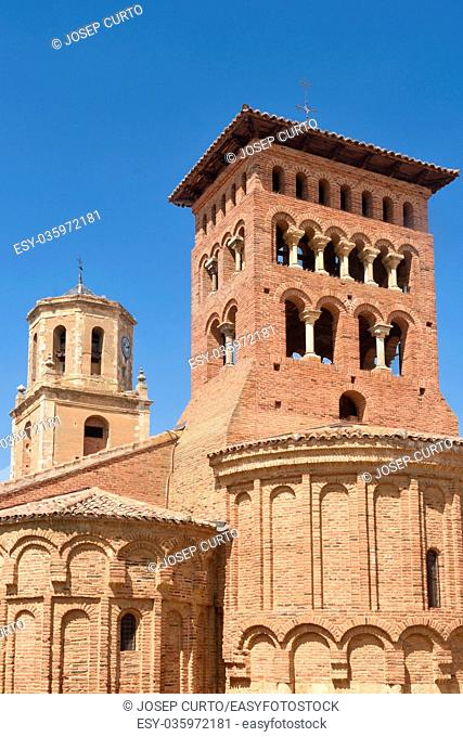 Church of San Tirso and San Benito in Sahagun, Way of St. James, Leon, Spain