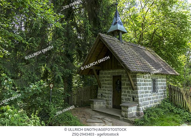 Small mountain chapel on the hiking trail near Altreute between the Pfänder and Bregenz, Vorarlberg, Austria