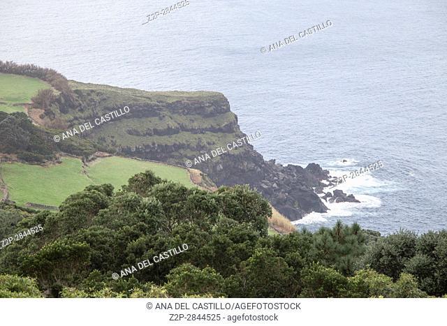Coast in Terceira island from Serreta Azores Portugal
