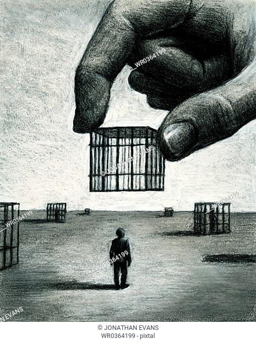 Small Men in Cages