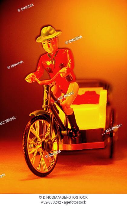 Toy vehicle: rickshaw