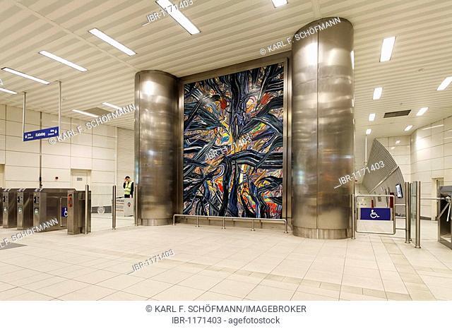 Modern, bright Metro station Taksim Square, Beyoglu, Istanbul, Turkey