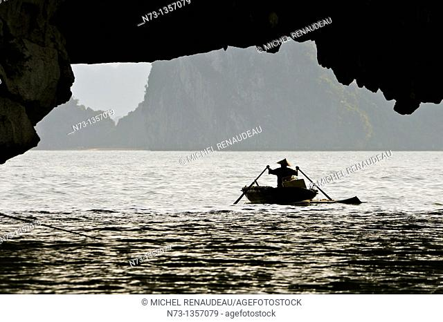 Vietnam, Halong Bay, listed as World Heritage by UNESCO
