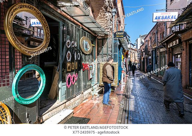 A shop selling mirrors in the Balat / fener neighbourhood of Istanbul. Turkey