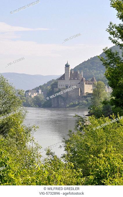 Schloss Schönbühel an der Donau, Wachau, Niederösterreich, Gemeinde Schönbühel-Aggsbach, Österreich, im Besitz der Familie Seilern-Aspang, Sehenswürdigkeit