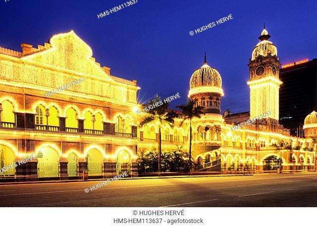 Malaysia, Kuala Lumpur, Merdeka Square and the Abdul Samad Sultan's Palace