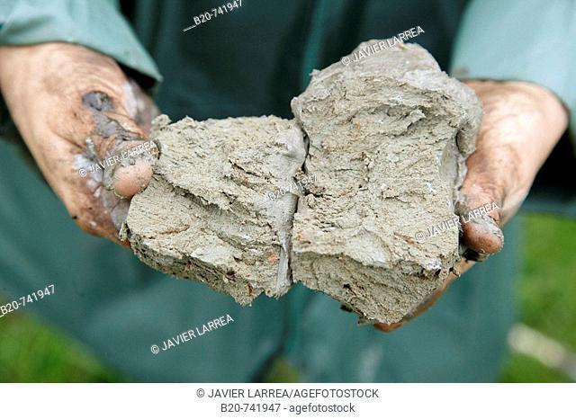 Peat, sampling peat, climate change research, Neiker-Tecnalia, Unit of Environment, Belate, Navarra, Spain