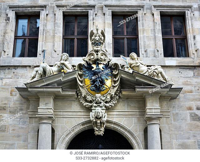 Nuremberg Coat of Arms at Rathaus. Germany. Europe